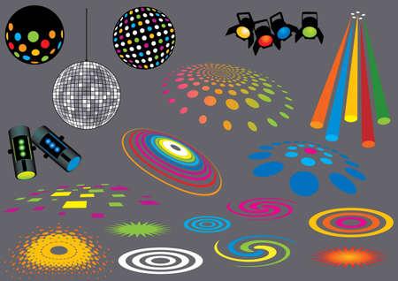 spotlights: Music Set # 7: luces de discoteca. Visita mi cartera para m�s m�sica y muchos otros elementos de dise�o.