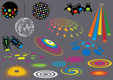 Music Set #7: Disco Lights. Visit my portfolio for many more music and other design elements. Vector
