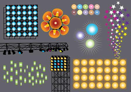 Music Set #10: Spot Lights Vector