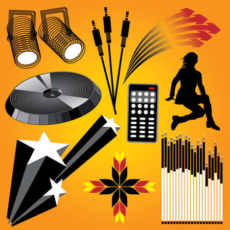 Design Elements. Vector set with various objects, all fully scalable and editable. Vector