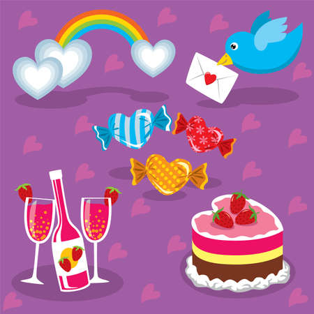 Various celebration vector elements you can use to create invitations, cards and posters. Stock Vector - 6355208