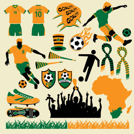 football kick: Soccer  football design collection. More soccer illustrations in my portfolio. Illustration
