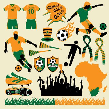 Soccer  football design collection. More soccer illustrations in my portfolio. Ilustracja