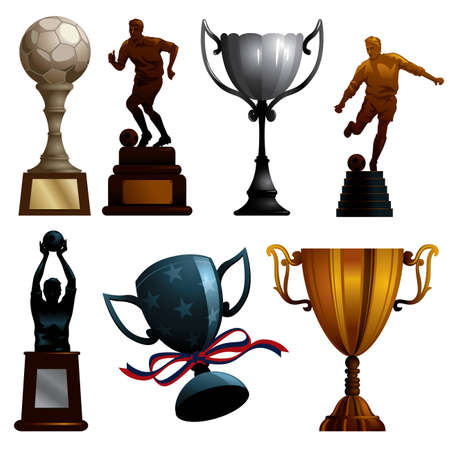 collection of realistic sport trophies - more sport illustrations in my portfolio. Vector