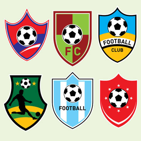 Soccer  Football Shields - More sport illustrations in my portfolio. Illustration