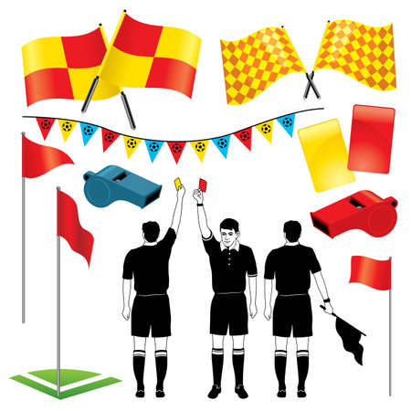 Soccer Referee - More sport illustrations in my portfolio. Stock Vector - 6599930