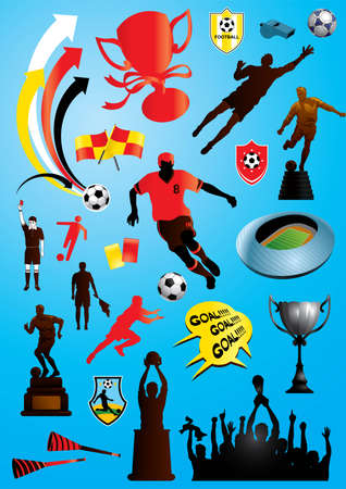 soccer stadium crowd: collection of many soccer and football designs - More sport illustrations in my portfolio.