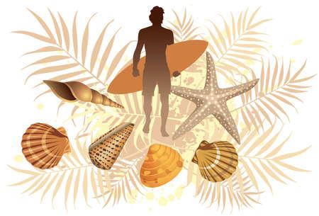 shell: Summer Surf - More summer illustrations in my portfolio.