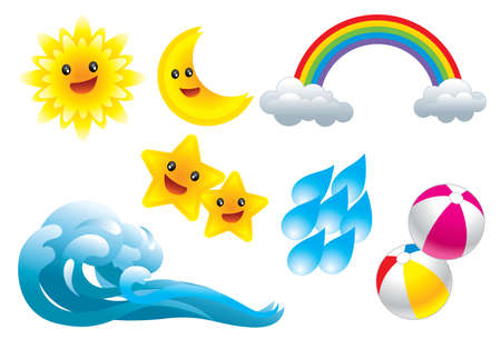 Weather Icons Stock Vector - 6796248