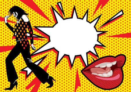 Pop Art Burst 2  Illustration