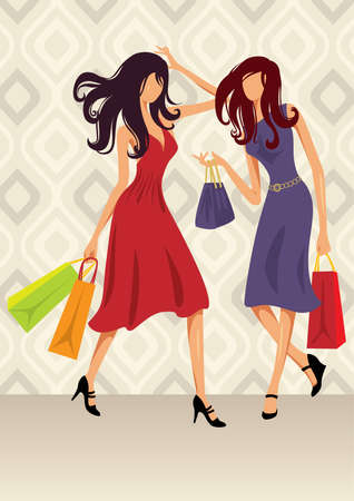Shopping - More active people illustrations in my portfolio. Vector