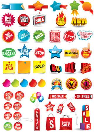 promo: etichette di vendita e di sconto  Vettoriali