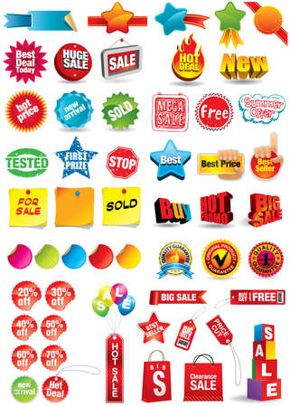 tag: sale and discount labels Illustration