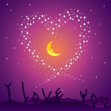 Starry Night Stock Vector - 8043485