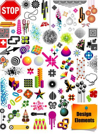 figure logo: Colecci�n de elementos de dise�o
