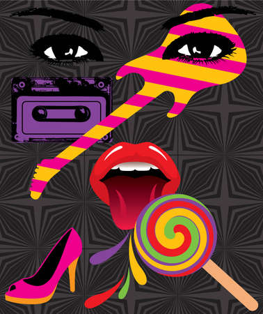 eighties:   pop artwork Illustration