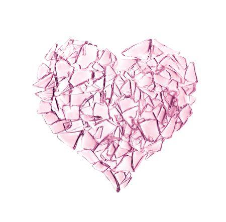 Broken glass heart photo