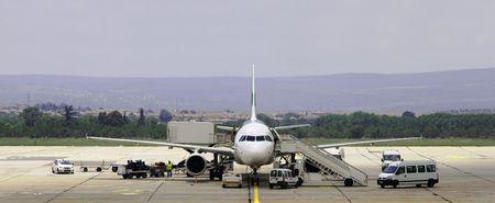 maintenance of aircraft at the airport in Varna, Bulgaria Stock Photo - 7964515