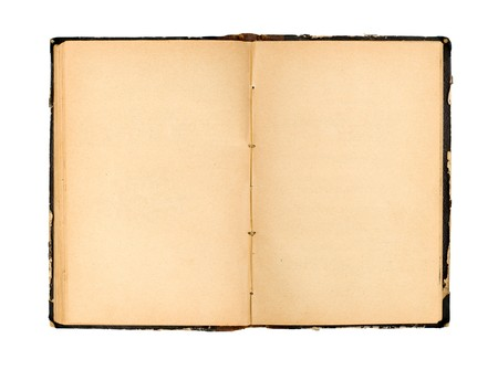open old book isolated on white background Stock Photo
