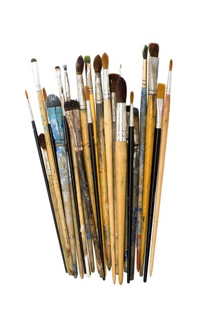 bunch of artist brushes