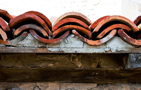 Wall tiling in the ancient Bulgarian town Stock Photo - 7964589