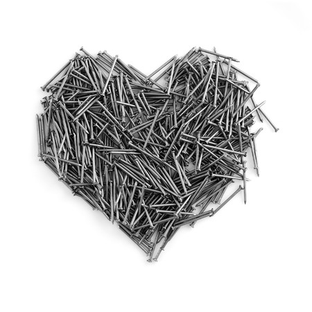 heart made out of nails