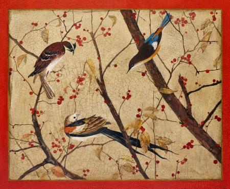 craquelure: Acrylic, wood, lacquer. Artist - Tanya Kazantseva, Belarus, Minsk. ?reation date - 2011