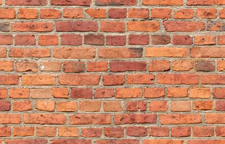 Red brick wall texture - seamless, high resolution brick wall texture