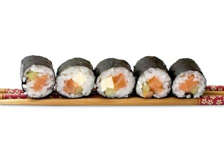 isolated sushi on white