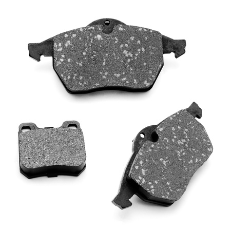 brake pads car on a white background  Stock Photo