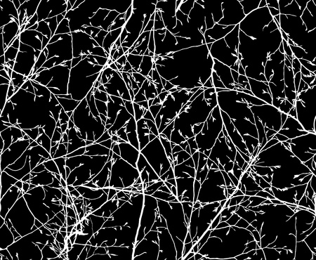 vector seamless texture of the branches on the black background Vector