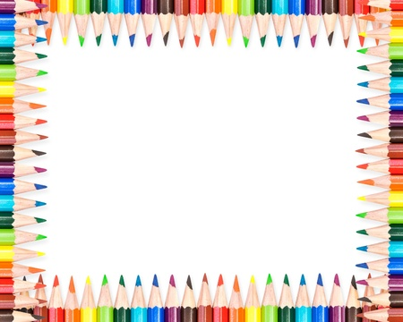 Colorful pencils frame