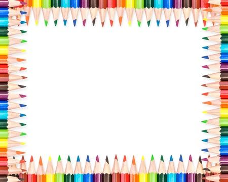school frame: Colorful pencils frame