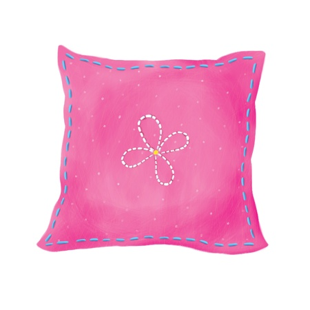 bed spreads: pink pillow isolated with clippg paths