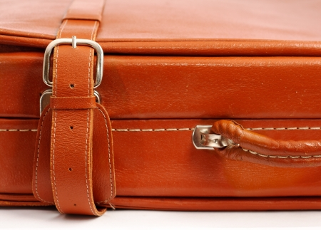 Part of the old leather suitcase photo