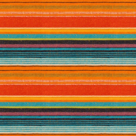 Textile Detail Seamless Background with Mexican Color Stock Photo