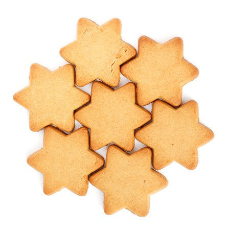 Swedish Ginger Snaps for Christmas on white background