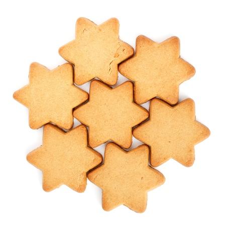 Swedish Ginger Snaps for Christmas on white background