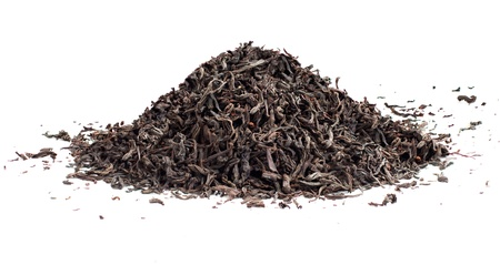 Black tea loose dried leaves Stock Photo