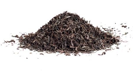 Black tea loose dried leaves Stock Photo