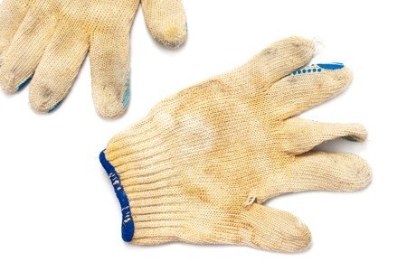 old dirty gloves Stock Photo - 17717159