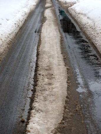 granizados: invierno nieve fangosa carretera y el lodo