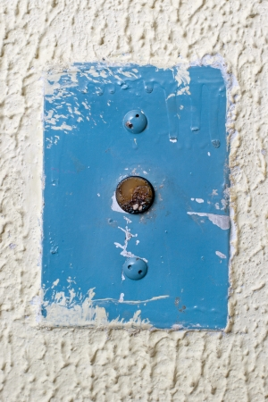 interphone: circular antique elevator call button