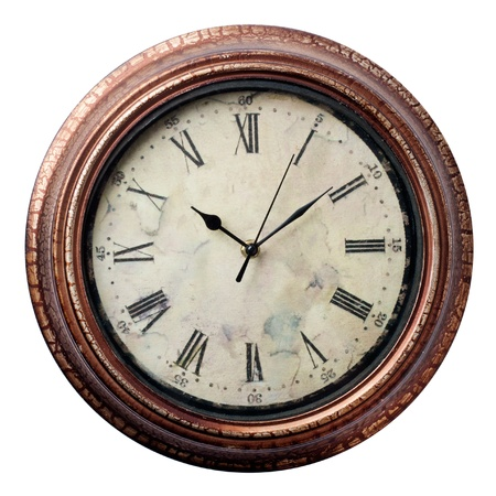 Clocks in Old style on white background