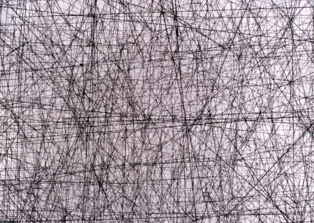 frayed: scratched texture  straight white lines Stock Photo