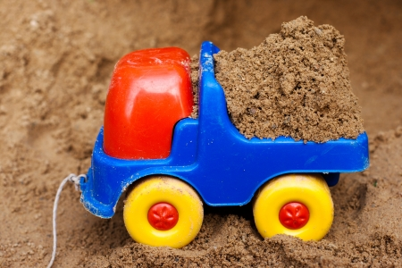 toy truck with sand in the back photo