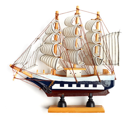 Boat model. small wooden ship. photo