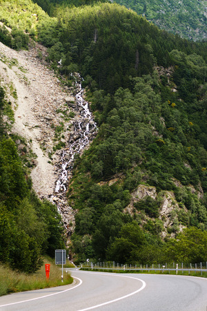 nature picture: road in the swiss alps. Nature Picture