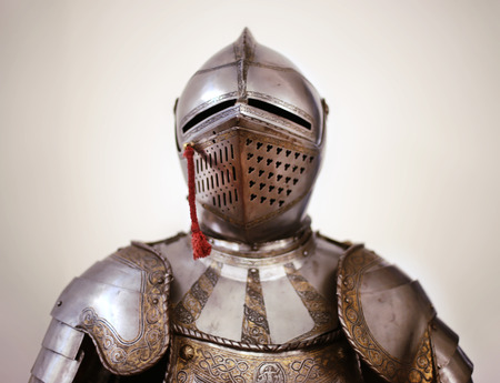 Ancient metal armor. Shallow DOF