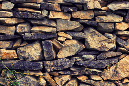 Part of a stone wall, for background or texture. Provence, France Stockfoto